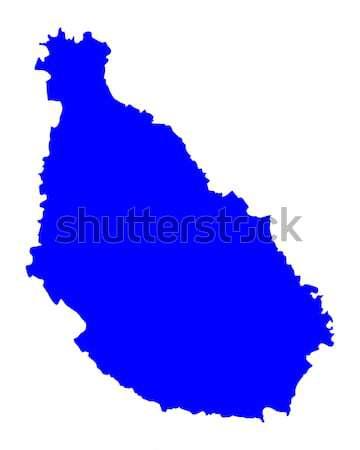 Mapa Santiago azul vector aislado ilustración Foto stock © rbiedermann