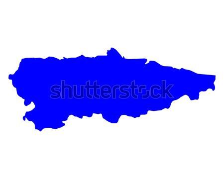 Kaart Cambodja Blauw reizen vector Stockfoto © rbiedermann