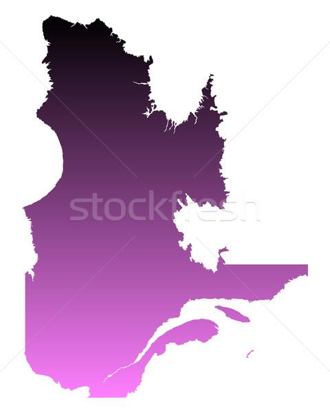 Harita Quebec pembe vektör Kanada yalıtılmış Stok fotoğraf © rbiedermann
