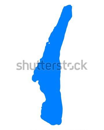 Harita göl mavi görmek vektör Almanya Stok fotoğraf © rbiedermann