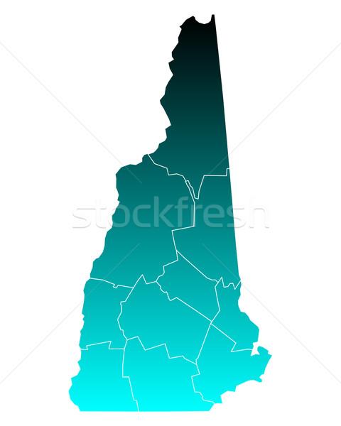 Harita New Hampshire yeşil mavi seyahat yeni Stok fotoğraf © rbiedermann