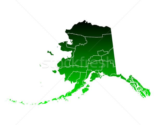Carte Alaska vert Voyage USA isolé Photo stock © rbiedermann