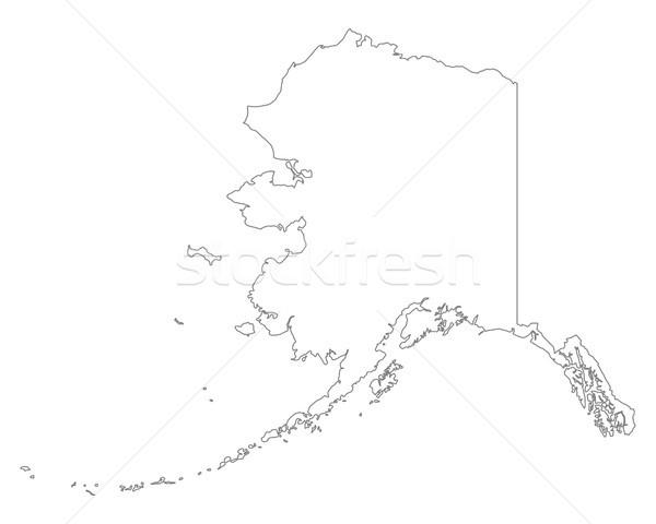 Stock photo: Map of Alaska
