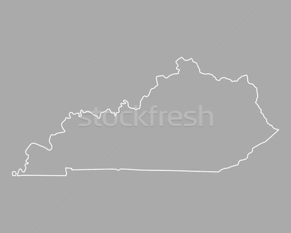 Map of Kentucky Stock photo © rbiedermann