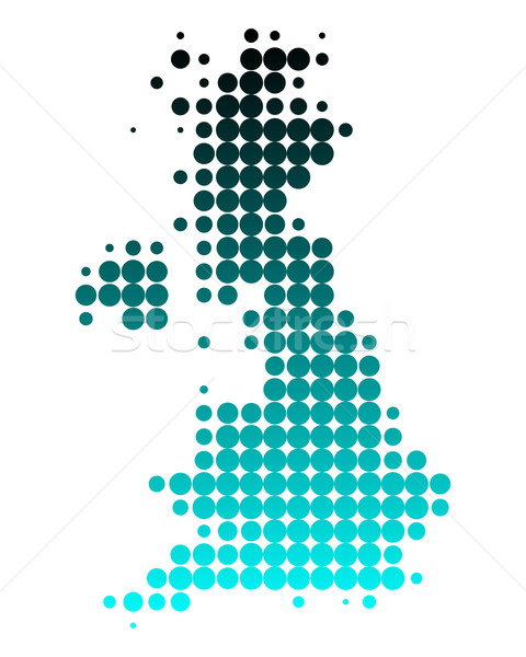 Karte Großbritannien grünen Reise Planeten Schottland Stock foto © rbiedermann