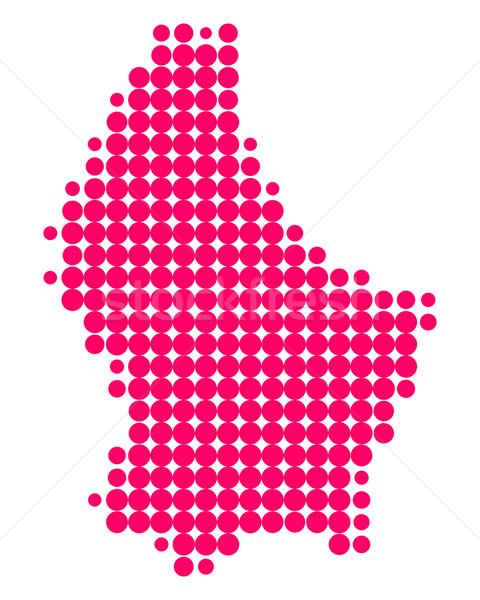 Kaart Luxemburg patroon paars cirkel punt Stockfoto © rbiedermann