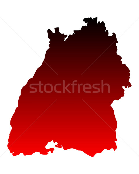 Map of Baden-Wuerttemberg Stock photo © rbiedermann