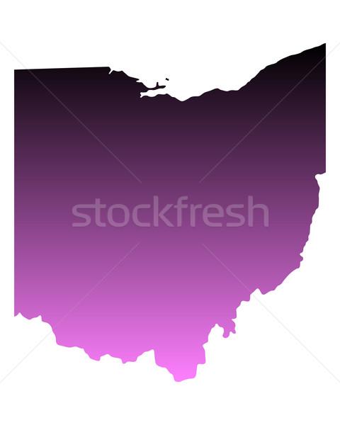 Mapa Ohio viajar rosa américa EUA Foto stock © rbiedermann