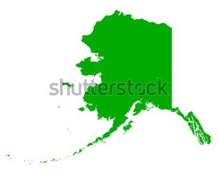 карта Аляска зеленый путешествия Америки США Сток-фото © rbiedermann