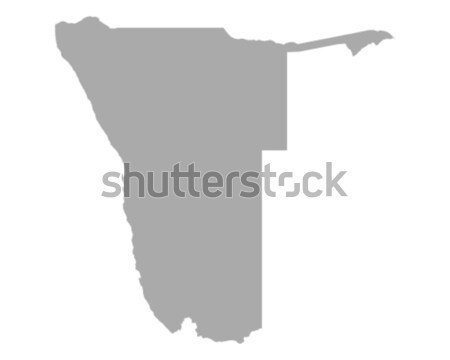 Harita Namibya vektör yalıtılmış örnek gri Stok fotoğraf © rbiedermann