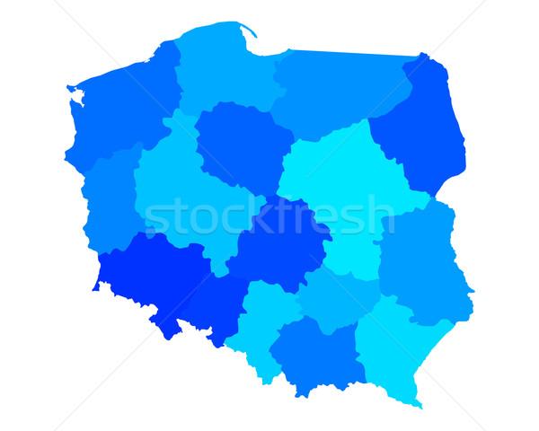 Mapa Polonia fondo línea vector ilustración Foto stock © rbiedermann