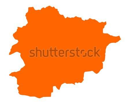 Kaart Andorra vector geïsoleerd Stockfoto © rbiedermann