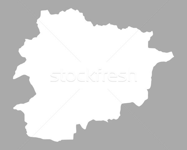 Kaart Andorra achtergrond lijn Stockfoto © rbiedermann