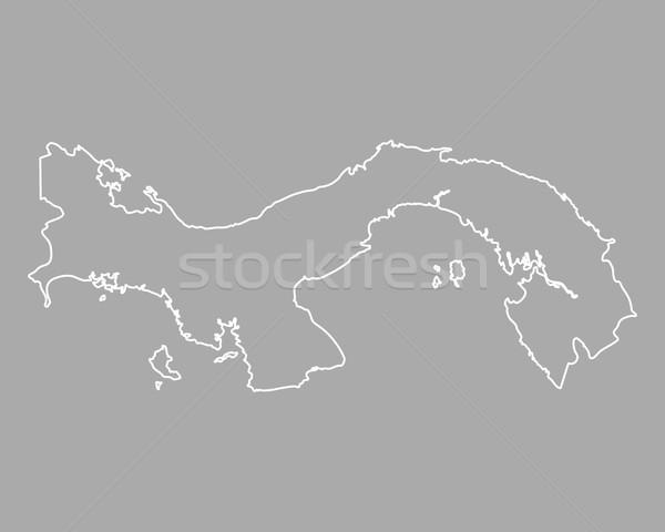 Harita Panama arka plan örnek Stok fotoğraf © rbiedermann