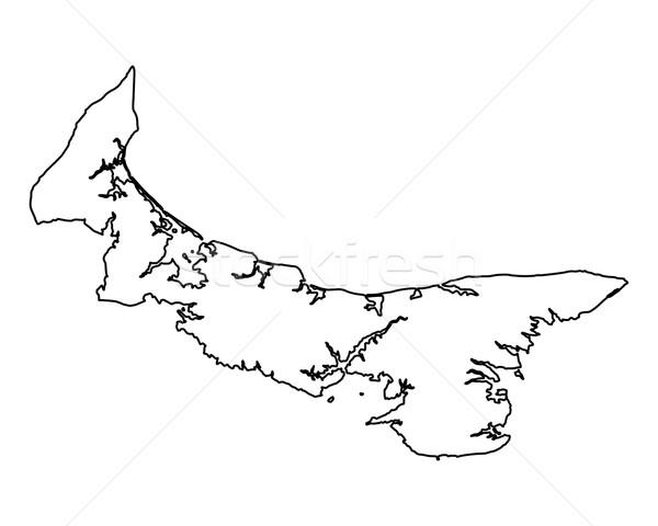 Mappa isola del principe edoardo isola Canada isolato illustrazione Foto d'archivio © rbiedermann
