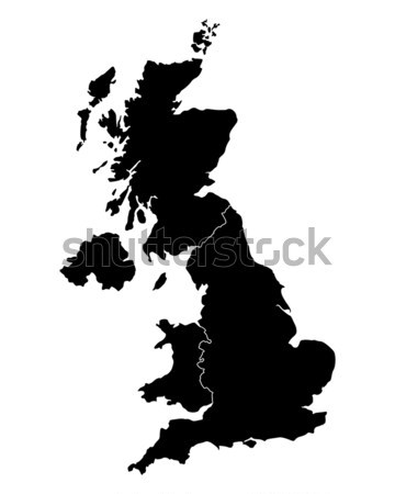 Map of United Kingdom Stock photo © rbiedermann