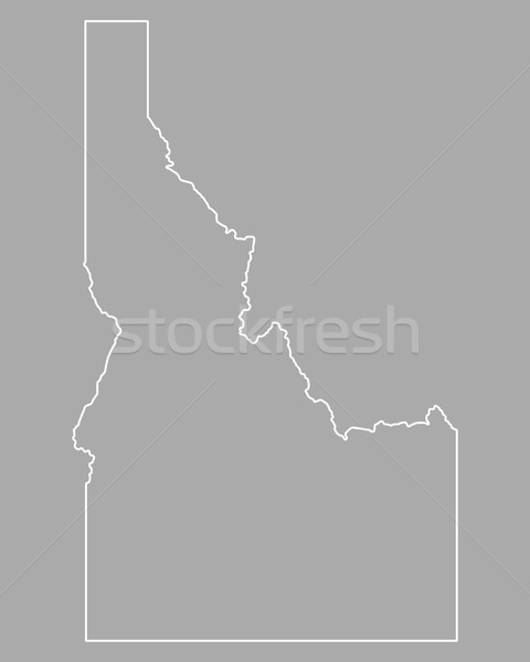 Kaart Idaho achtergrond lijn USA Stockfoto © rbiedermann