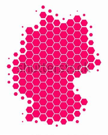 Mappa pattern viola cerchio punto vettore Foto d'archivio © rbiedermann