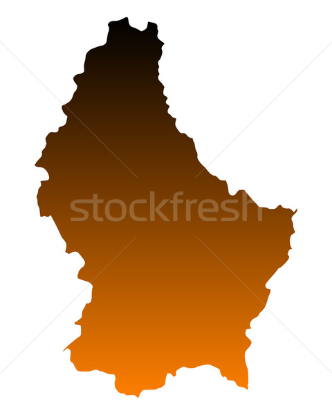 Kaart Luxemburg vector geïsoleerd illustratie Stockfoto © rbiedermann