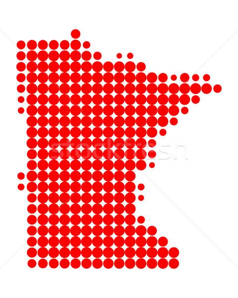 карта Миннесота красный шаблон Америки круга Сток-фото © rbiedermann