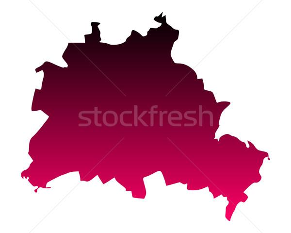 Map of Berlin Stock photo © rbiedermann