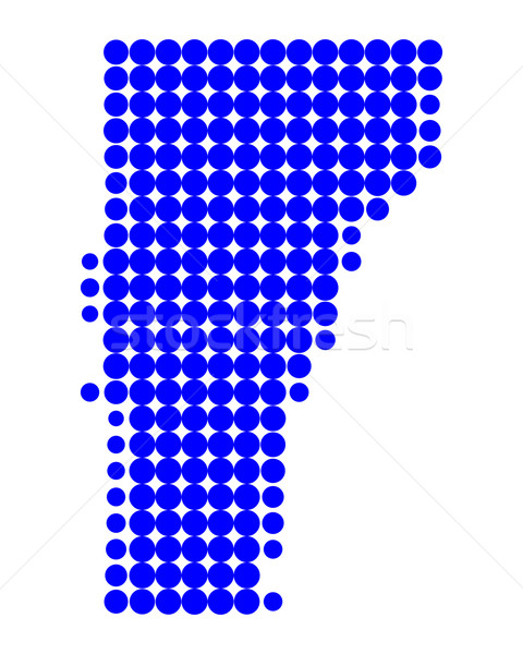 Mapa Vermont padrão américa círculo EUA Foto stock © rbiedermann