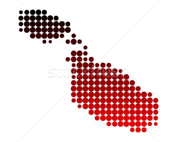 Mapa Malta patrón círculo punto ilustración Foto stock © rbiedermann