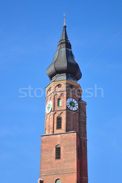 Bazilika égbolt kék építészet torony Németország Stock fotó © rbiedermann