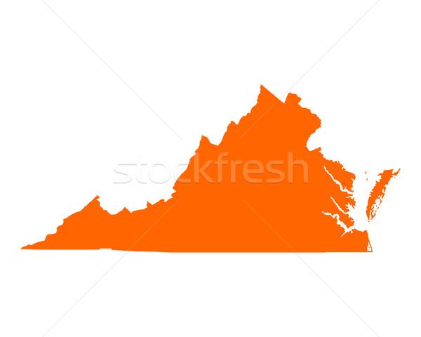 карта Виргиния путешествия Америки США изолированный Сток-фото © rbiedermann