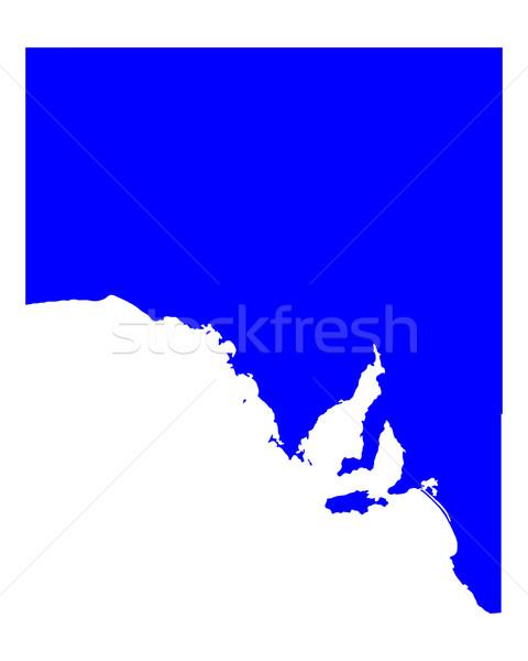 Mapa sul da austrália azul vetor Austrália isolado Foto stock © rbiedermann