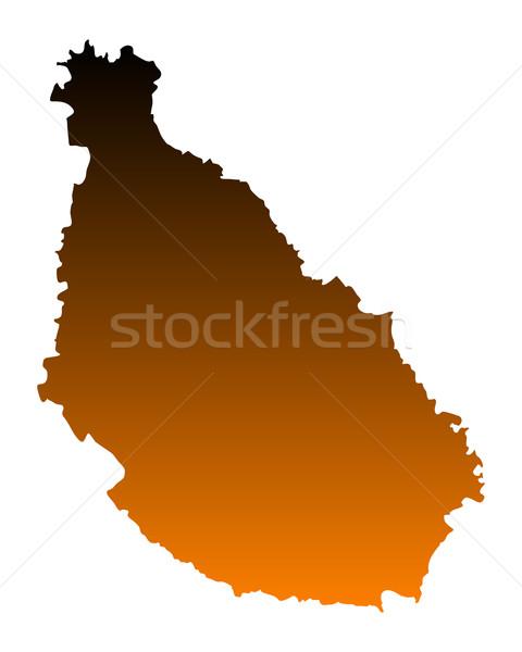 Mapa Santiago vector aislado ilustración marrón Foto stock © rbiedermann