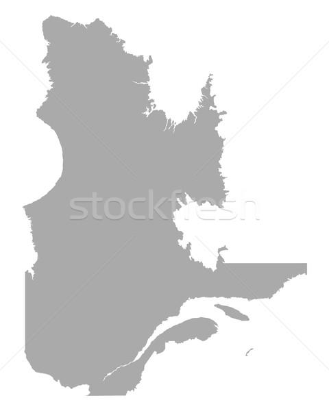 Kaart Quebec reizen vector Canada geïsoleerd Stockfoto © rbiedermann