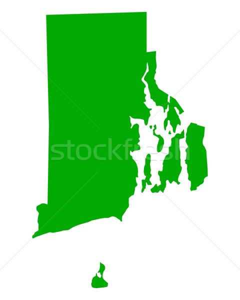 Harita Rhode Island yeşil seyahat Amerika ABD Stok fotoğraf © rbiedermann