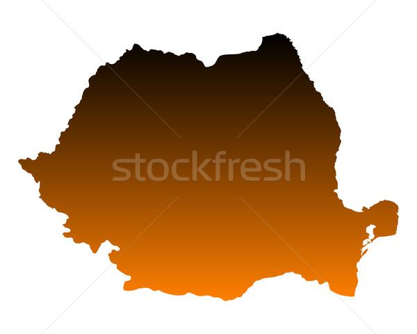 Mappa Romania vettore isolato illustrazione Foto d'archivio © rbiedermann