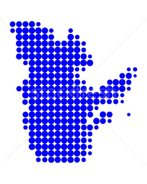 карта Квебек синий шаблон круга точки Сток-фото © rbiedermann