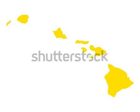 Kaart eiland vector Spanje geïsoleerd Stockfoto © rbiedermann