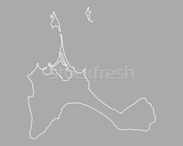 Stock photo: Map of Formentera