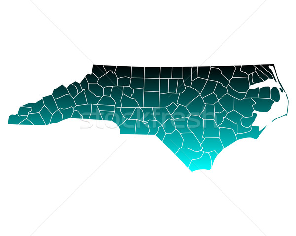 Map of North Carolina Stock photo © rbiedermann