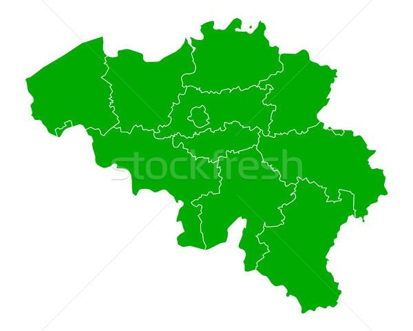 Térkép Belgium háttér zöld vonal vektor Stock fotó © rbiedermann