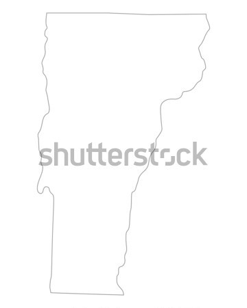 Térkép Vermont háttér vonal USA illusztráció Stock fotó © rbiedermann