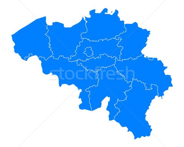 Harita Belçika arka plan mavi hat vektör Stok fotoğraf © rbiedermann