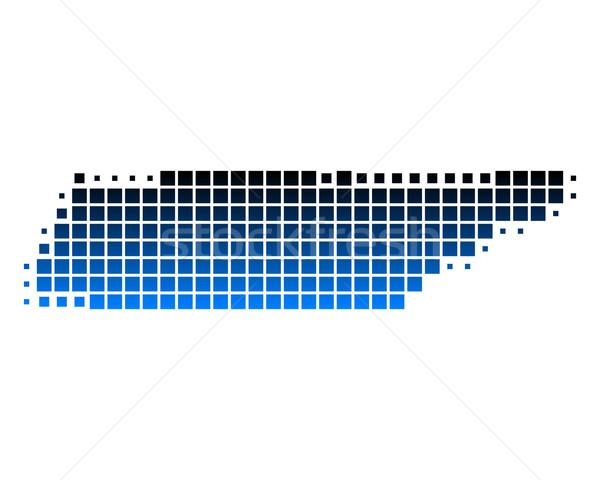 Carte Tennessee bleu Voyage modèle carré Photo stock © rbiedermann