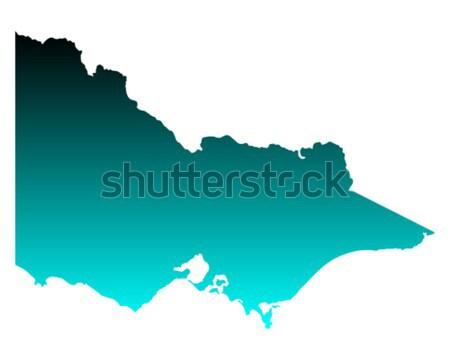 карта Боливия зеленый синий вектора изолированный Сток-фото © rbiedermann