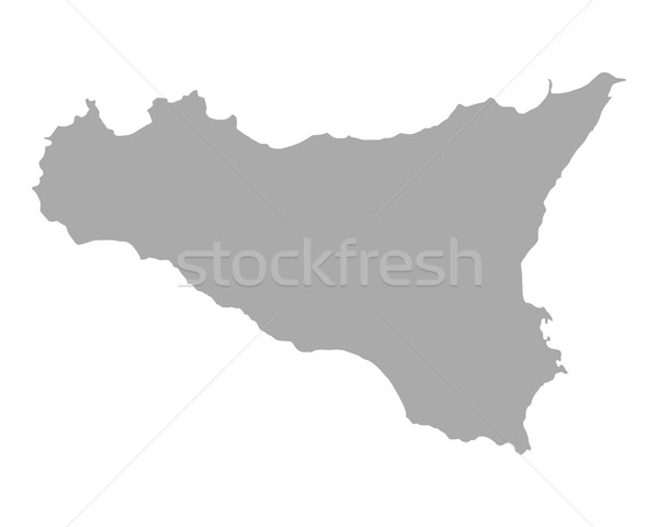 Map of Sicily Stock photo © rbiedermann