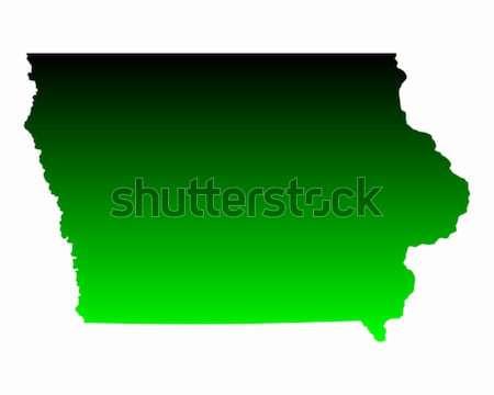 карта Айова зеленый путешествия Америки США Сток-фото © rbiedermann