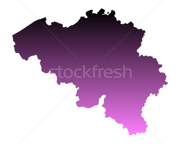 Mapa Bélgica viaje rosa vector Foto stock © rbiedermann