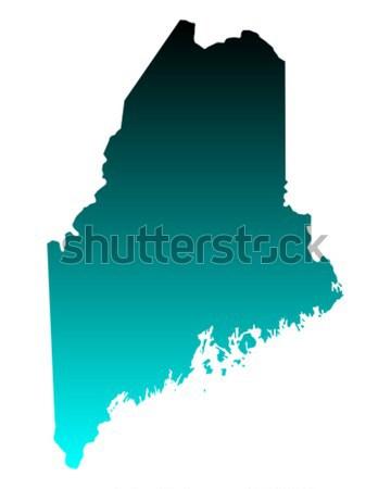 Pokaż Maine tle line Ameryki USA Zdjęcia stock © rbiedermann