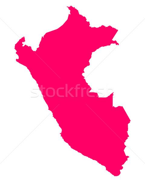 Harita Peru arka plan hat mor vektör Stok fotoğraf © rbiedermann
