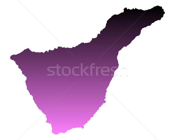 Kaart tenerife roze vector Spanje geïsoleerd Stockfoto © rbiedermann