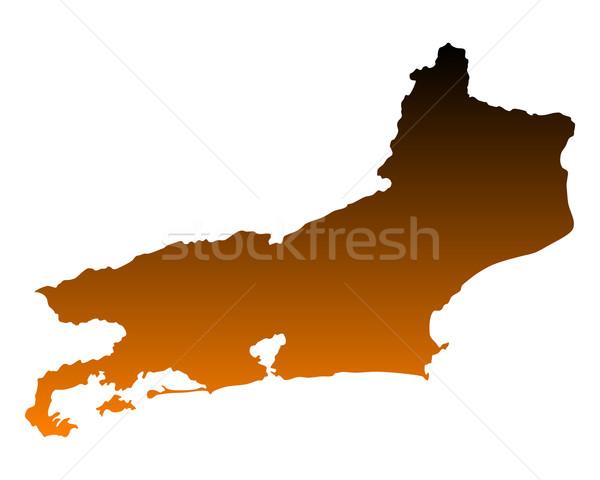Mapa Rio de Janeiro vetor Brasil isolado ilustração Foto stock © rbiedermann